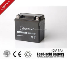 YTX5A-BS(MF) battery 12v5ah motorcycle battery