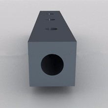 Article buffer collision avoidance square type rubber fender