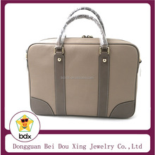 China Manufacturer OEM Design Custom Fashion High Quality Brown Color Genuine Leather Lady Or Mens Business Handbag Wholesales