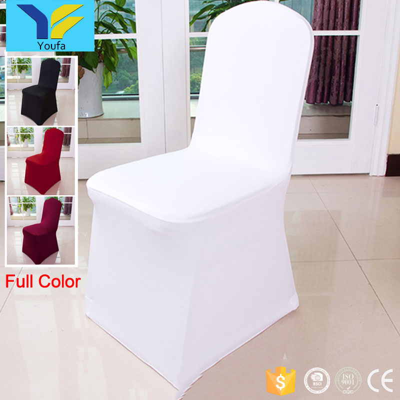 Wholesale white hotel wedding party banquet lycra cheap christmas spandex chair cover