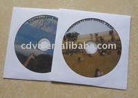 CD disc in paper sleeve package