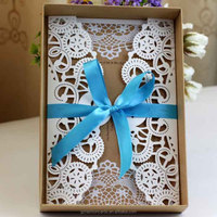 2014 Vintage and Elegance Laser Card with Box Wedding Invitations