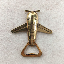 Factory Sale Promotional Custom Die Casting Zinc Alloy Airplane Bottle Opener