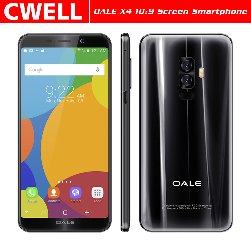 Unlocked Smart Phones OALE X4 5.7 Inch 18:9 Full Screen 16GB ROM 8.0MP Camera Android Phone