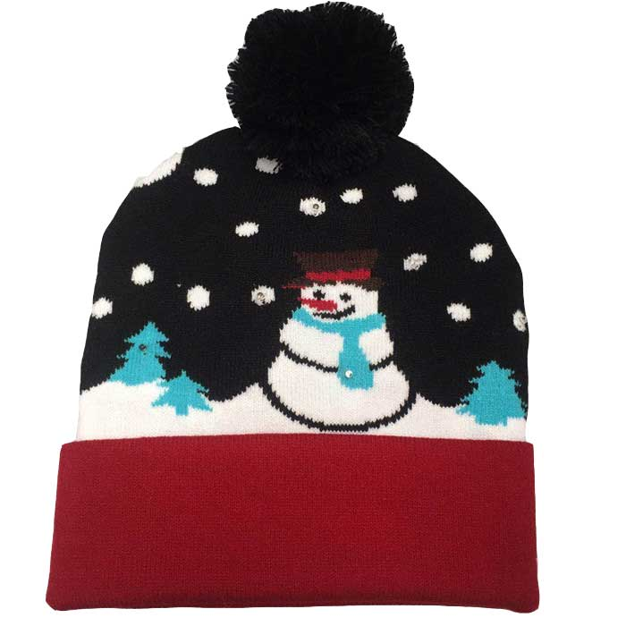 Small Order Led <strong>Beanie</strong> Flashing Knitted Pom Pom <strong>Hat</strong> Stock Free Drop Shipping <strong>Winter</strong> Light Up Christmas Pom <strong>Hat</strong> Cap