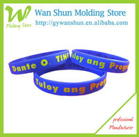 Fashion Silicone one inch Printed logo two color filled Wristband/Bracelet