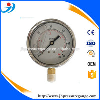 4inch 100mm full stainless steel direct connection pressure gauge 160PSI