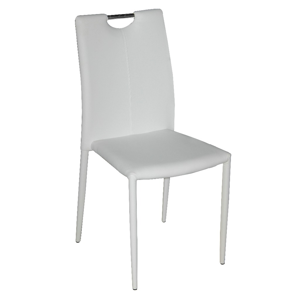 fashion new industrial metal dining chair with pu leather