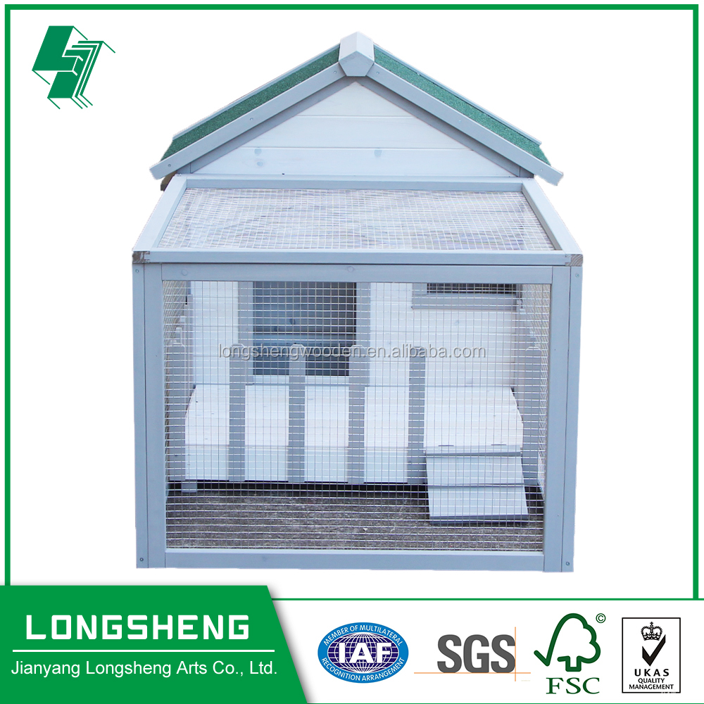 Pet Balcony Large Wooden Rabbit Hutch