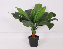 New product different styles home decorative big leaves bonsai green artificial taro tree plants