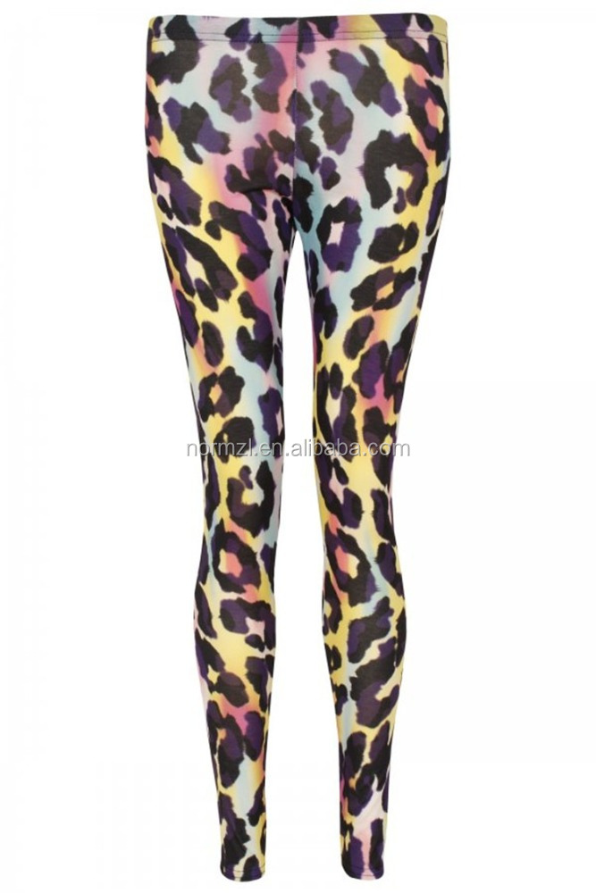newest arrival sexi girls animal printing leggings sublimation custom design leopard pants