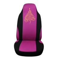 waterproof car seat cover with golden tree design