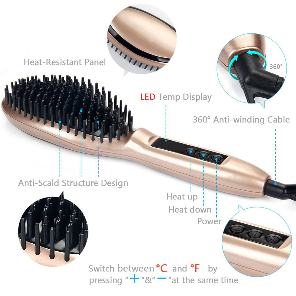 Wholesale Cheap Professional steam ionic comb electric straightening private label hair brush hair straightner brush