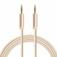 wholesale alibaba china Male To Male 6FT Flat power cable 3.5mm Jack Candy colors Audio Cable