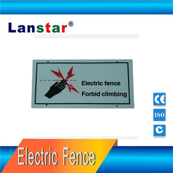 Luminous warning signs for perimeter electric fence,both sides printed,PVC materials