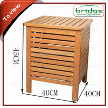 Nice Design and Strong Folding Bamboo laundry basket, Container For Dirty Clothes