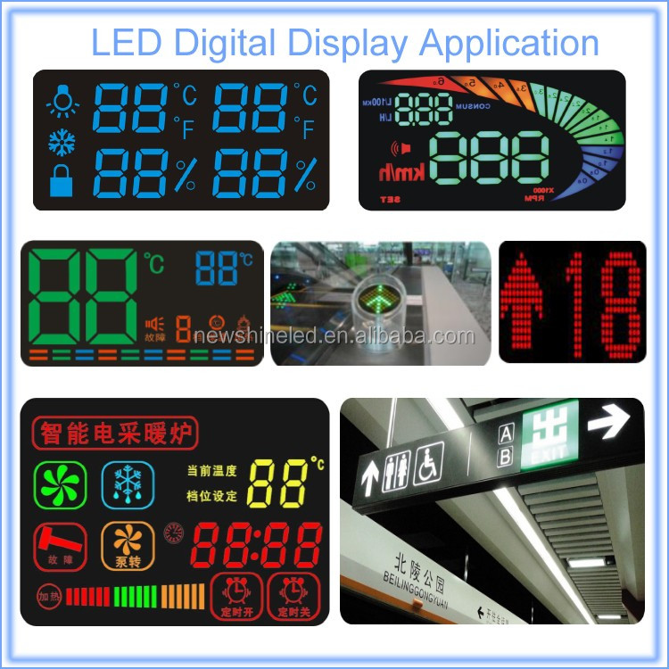Outdoor ultra large 7 segment led display 1 digit led digital display for retail led digital 7 segment signage display