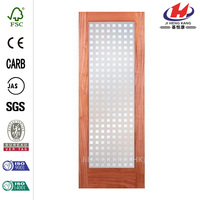 JHK-G01 Commercial Frosted Glass Decorative Shutter Inserts Interior Door