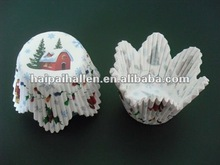Christmas House Petal Cupcake Liners cases Baking Cups