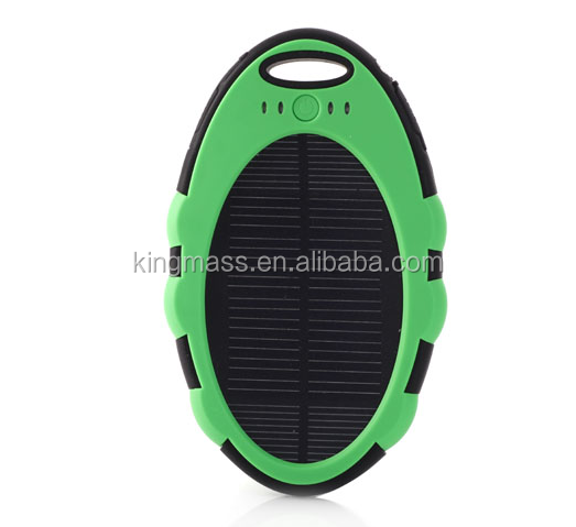 Mini Magic Mirror Portable solar charger power bank 3000mAh external waterproof solar power charger for hiking