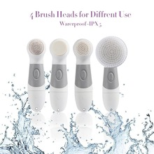4 IN 1 Portable Rotary Face And Body Cleansing Brush Multi-functional Facial Cleansing Brush Full Waterproof Facial Clean Brush