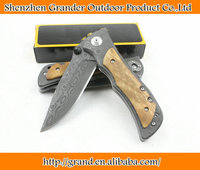 Black Panther pattern 339 knife hand tools wood handle camping rescue tactical knife 0129