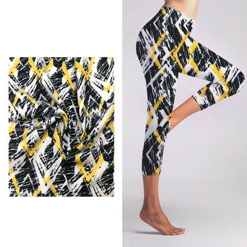 Polyester Spandex Women's Yoga Fabric Sportswear Custom Printed Fabric