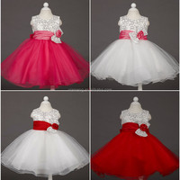 2015 Alibaba new designs puffy modern baby girls gown dresses