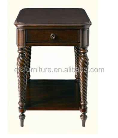 High quality durable modern solid wooden furniture side tables for bedroom