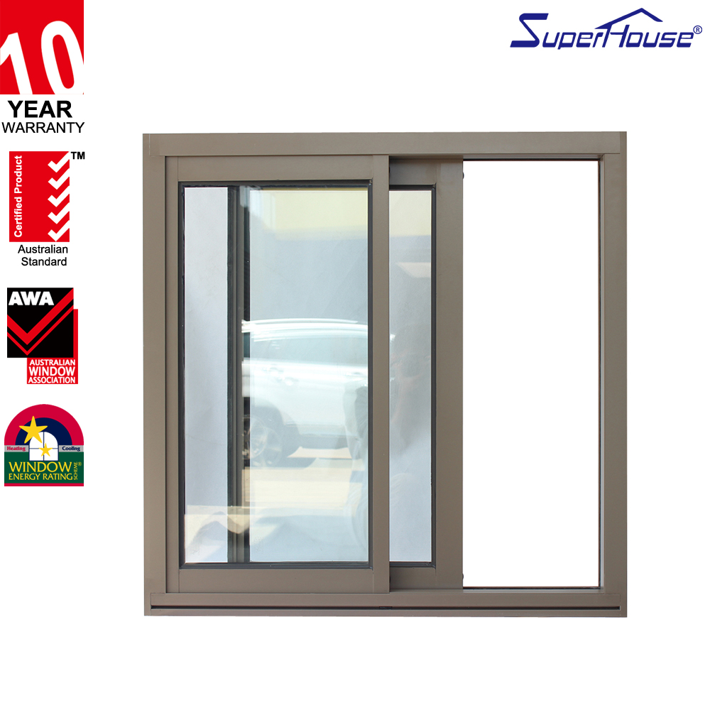 aluminium frame single pane sale sliding windows with AS2047standard