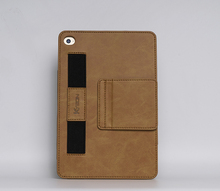 For ipad oil-waxed leather case, for ipad mini 4 handhold case