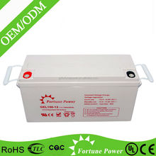 large capacity 12v 150ah sealed lead acid agm deep cycle battery