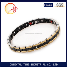 Magnetic Energy Germanium Power Bracelet Health 4in1 Bio Armband TITANIUM steel