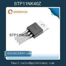 (electronic ICs chips)STP11NK40Z,11NK40,MOSFET N-CH 400V 9A TO-220, electric component,transistor mosfet