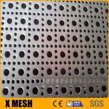 Standard 5mm hole 8mm pitch perforated oblong stainless steel sheet for corrugated pipe