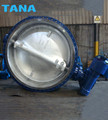 Big size DN2200 carbon steel flanged end Butterfly Valve for power station