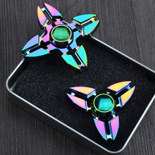 2017 Best Gift Funny Toys Polar Lights Plated Fidget Spinner