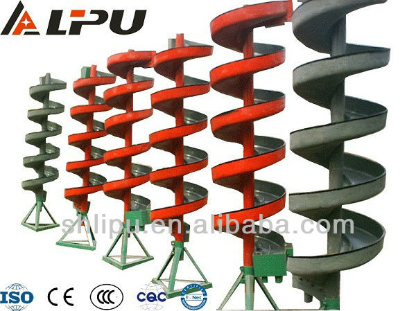 Tungsten ore spiral chute for iron ore upgrading equipments