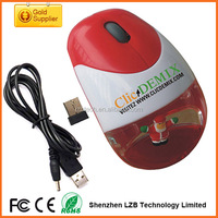 promotional Christmas gift 2.4g usb optical wireless aqua mouse, floater custom aqua mouse wireless