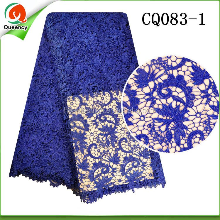 CQ083 Queency Nigerian styles cord lace latest fashion dress making guipure lace