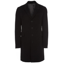 Men's Black Velvet Epsom Coat