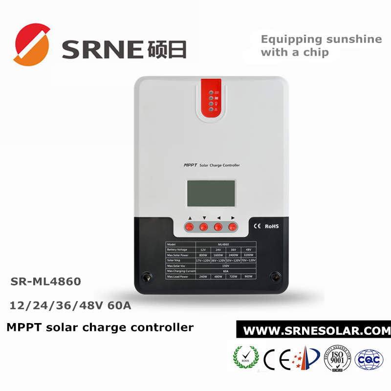 High voltage 60A mppt solar charge controller for solar system
