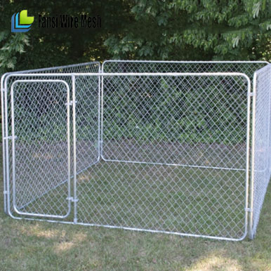 Outdoor Hot Sales large double dog kennel with mesh run sections