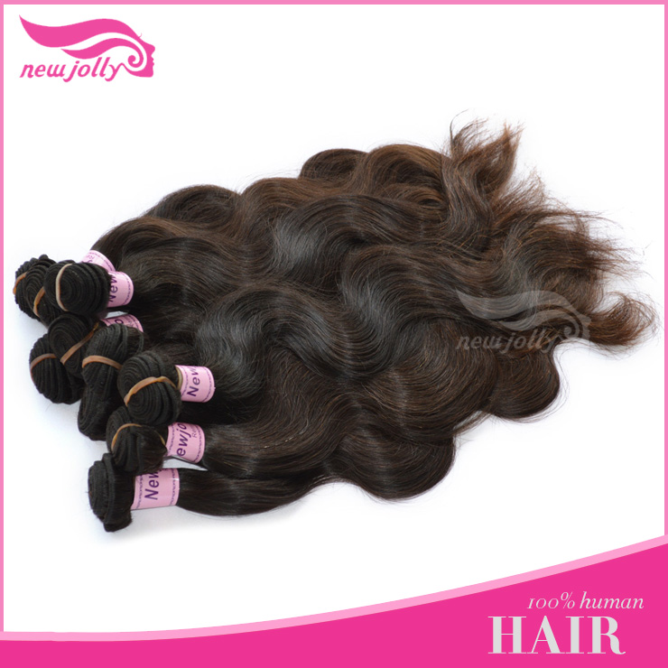 virgin peruvian beauty elements hair extensions without any processed , no shedding no tangle hair