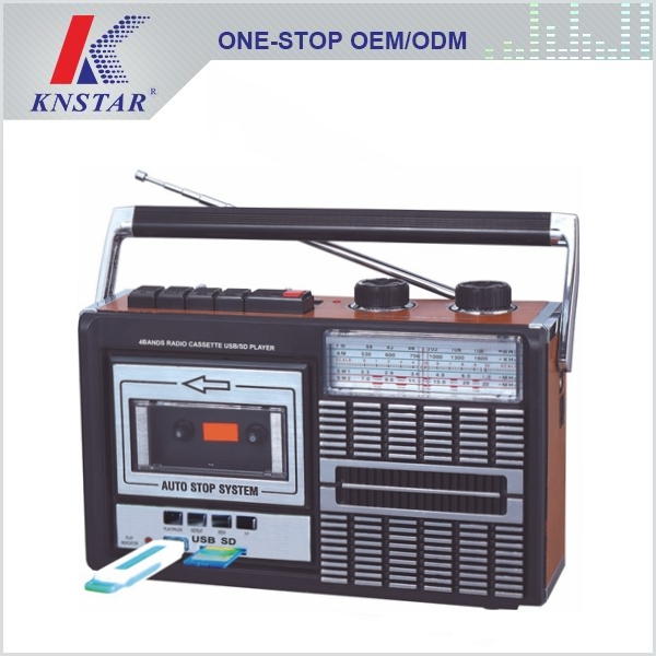AM/FM/SW1-2 4BAND RADIO CASSETTE RECORDER with USB/SD FUNCTION