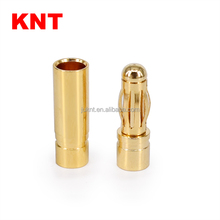 KNT Gold plated bullet electric Male Female 4mm banana plug connector for RC UAV