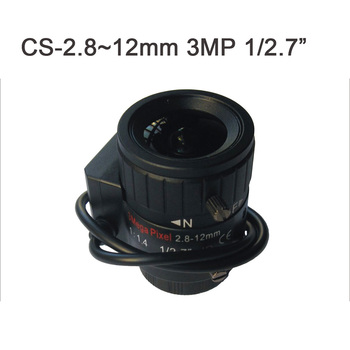 2.8-12mm 3meagpixel automatic aperture manual zoom HD CS monitoring camera lens