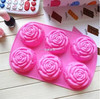 Homemade Soap, Cake, Pudding 6 Cavity Mini Rose Cake Mold