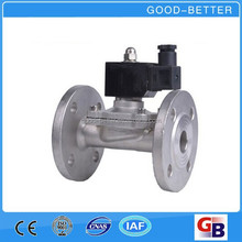 Hot selling Two-way Stainless steel fluid control solenoid valves with flange connection