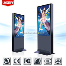 42 46 55 65 inch floor standing lcd advertising display totem touch screen kiosk